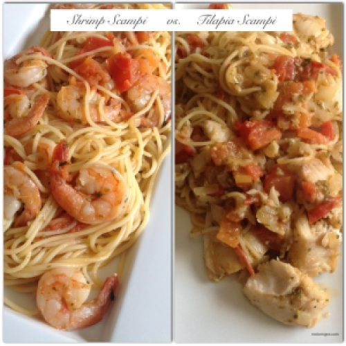 Shrimp and Tilapia Scampi