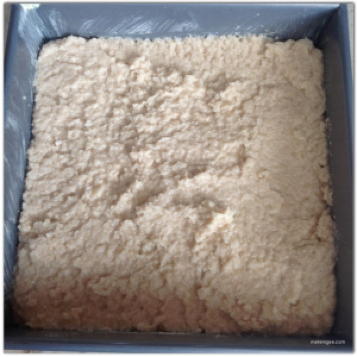 Place mixture into a greased baking pan. Make sure mixture is no more than 1 inch thick.