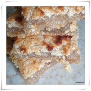 Stacked squares of Cassava Pone